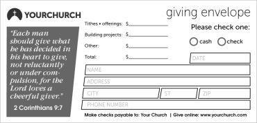 Church Giving Envelopes