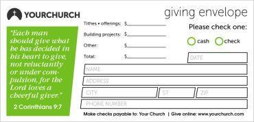 Tithe & Offering Envelopes