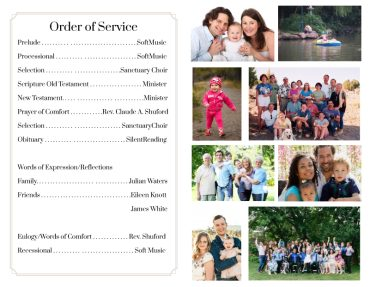 Funeral program 1064