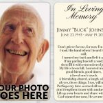 Memorial Prayer Card 1001