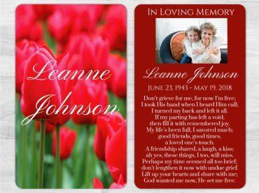 Memorial Prayer Card 1002