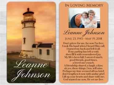 Memorial Prayer Card 1003