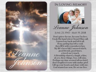 Memorial Prayer Card 1005