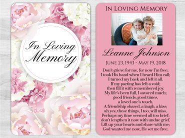 Memorial Prayer Card 1006