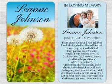 Memorial Prayer Card 1007