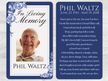 Memorial Prayer Card 1009