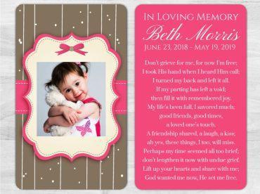 Memorial Prayer Card 1010