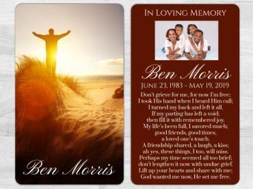Memorial Prayer Card 1014