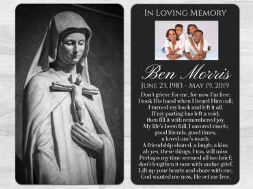 Memorial Prayer Card 1016