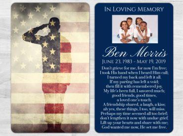 Memorial Prayer Card 1017