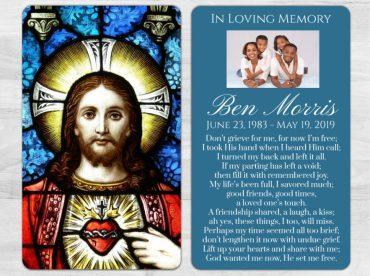 Memorial Prayer Card 1019