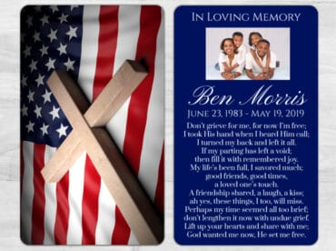 Memorial Prayer Card 1022