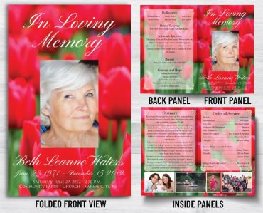 Funeral Program 1037