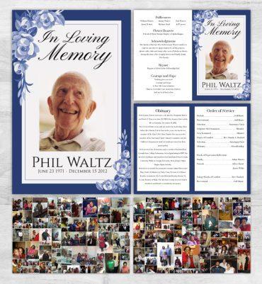 Folded Funeral Programs (8panels)