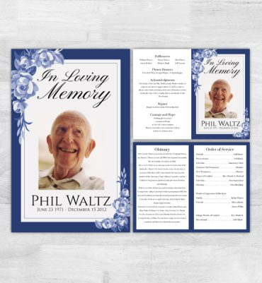 Folded Funeral Programs (4panels)