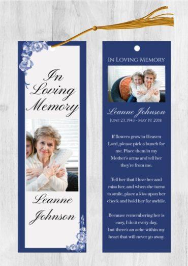 Funeral Program Bookmark 1009