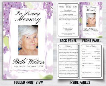 Funeral Program 1068