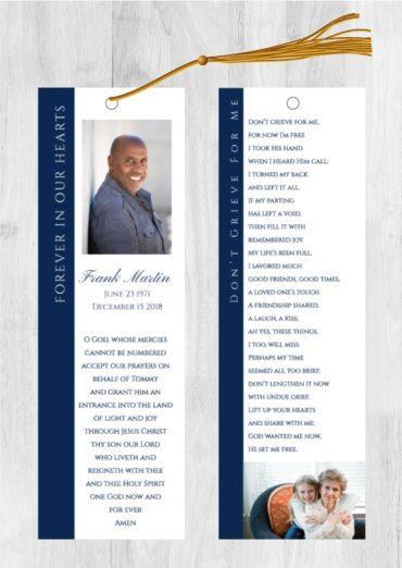 Funeral Program Bookmark 1072