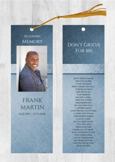 Funeral Program Bookmark 1080