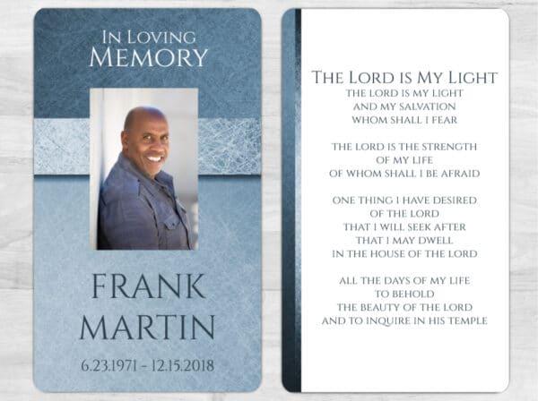 Custom Funeral Prayer Card In Loving Memory