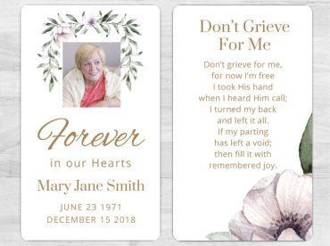 Memorial Prayer Card 1081