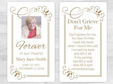 Memorial Prayer Card 1082