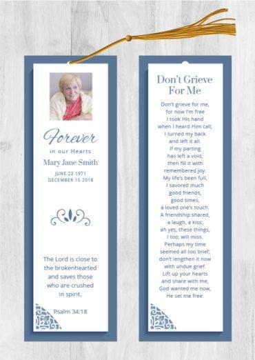 Funeral Program Bookmark 1083