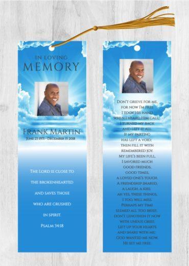 Funeral Program Bookmark 1085