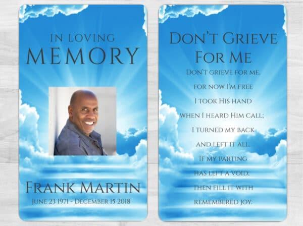 Memorial Prayer Card 1085