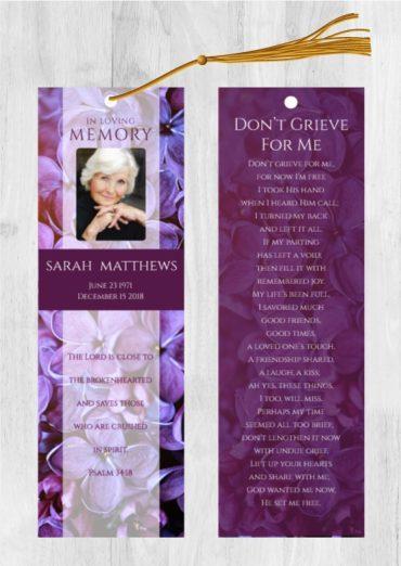 Funeral Program Bookmark 1086