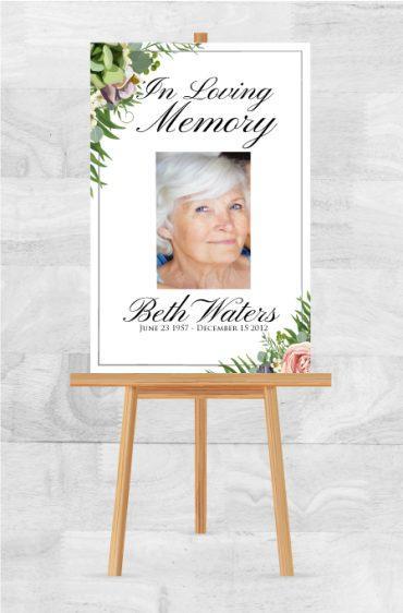 Funeral Program Memorial Poster 1055