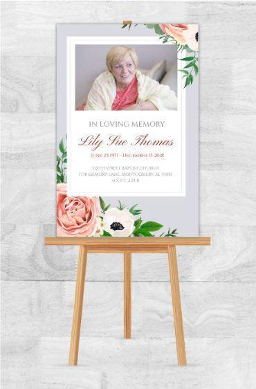 Funeral Program Memorial Poster 1070