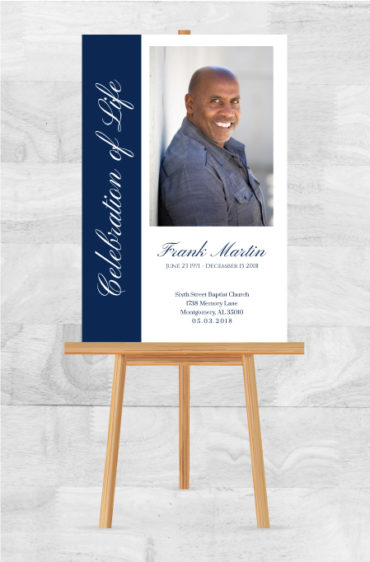 Celebration Of Life Funeral Poster
