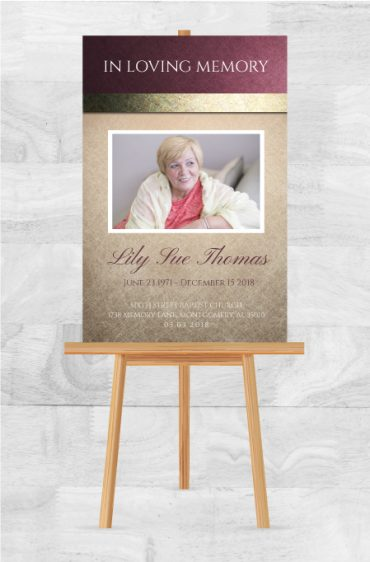 In Loving Memory Memorial Service Poster