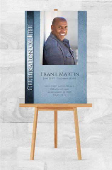 Funeral Program Memorial Poster 1080