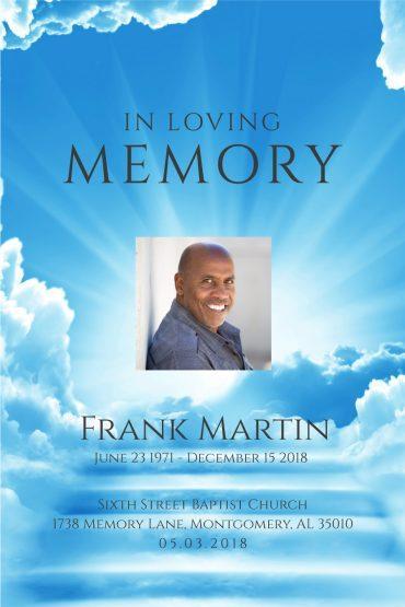Funeral Program Memorial Poster 1085