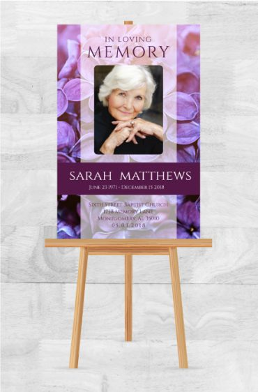 Funeral Program Memorial Poster 1086