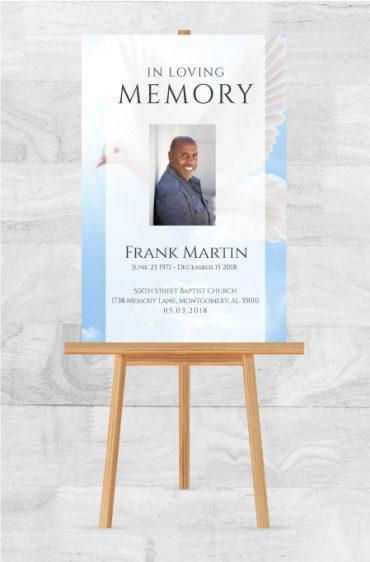 Funeral Program Memorial Poster 1089