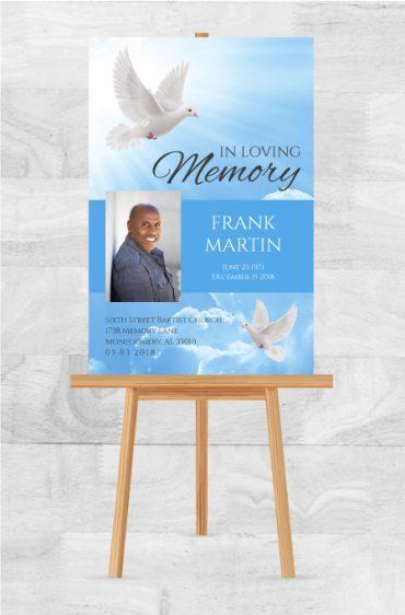 Funeral Program Memorial Poster 1090