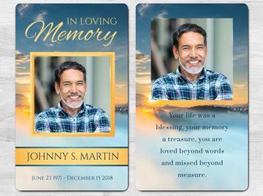 Memorial Prayer Card 1092