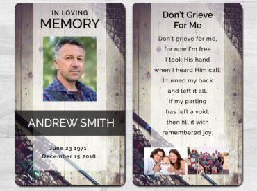 Memorial Prayer Card 1093