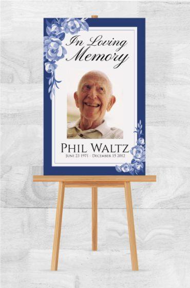 In Loving Memory Memorial Poster For A Funeral