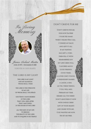 Funeral Program Bookmark 1071