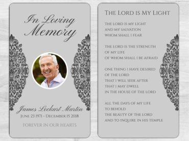 Memorial Prayer Card 1071