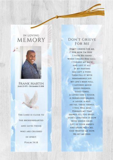 Funeral Program Bookmark 1089