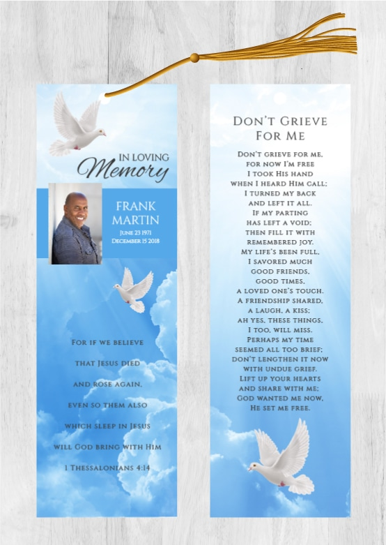 Funeral Program Bookmark 1090