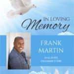 No Fold Memorial Funeral Program 1090