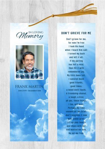 Funeral Program Bookmark 1091