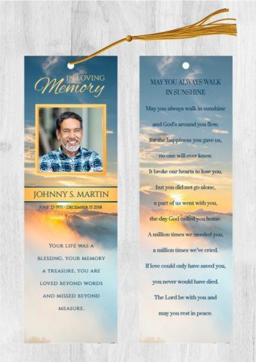 Funeral Program Bookmark 1092