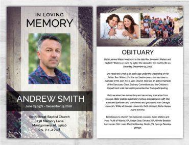 No Fold Memorial Funeral Program 1093
